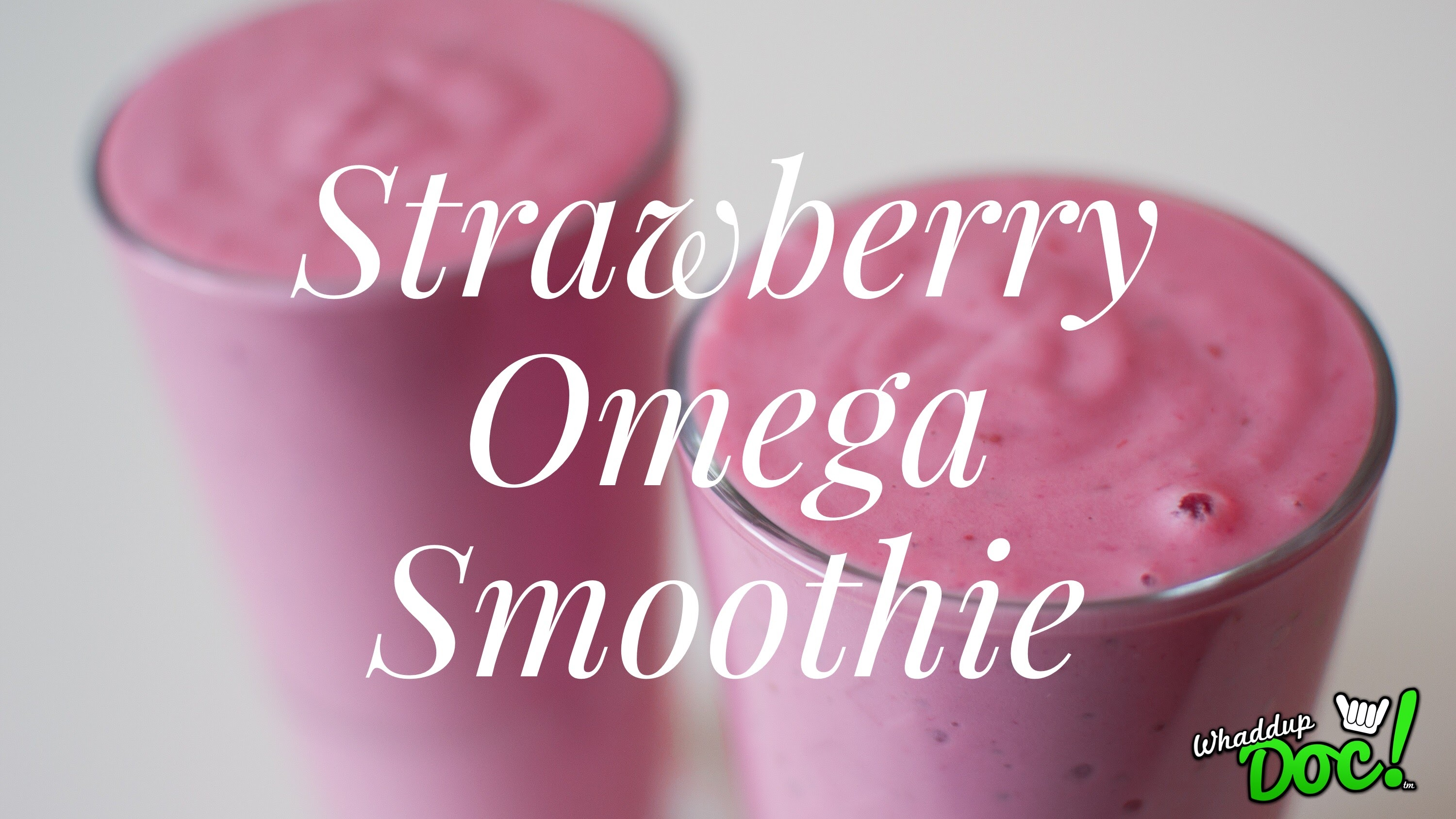 strawberry omega smoothie